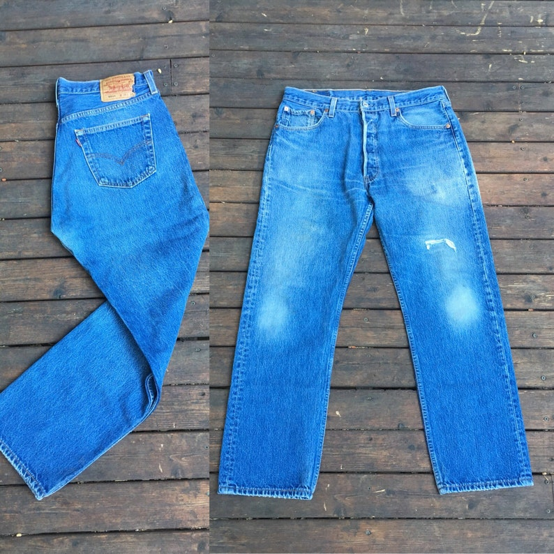 545dd44e 34x30 Levis 501 jeans USA made in America 501xx 501s vintage   Etsy