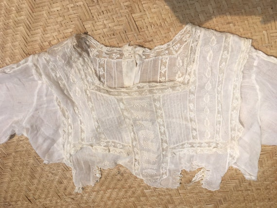 Edwardian lace blouse white 100 cotton gauze lawn… - image 9