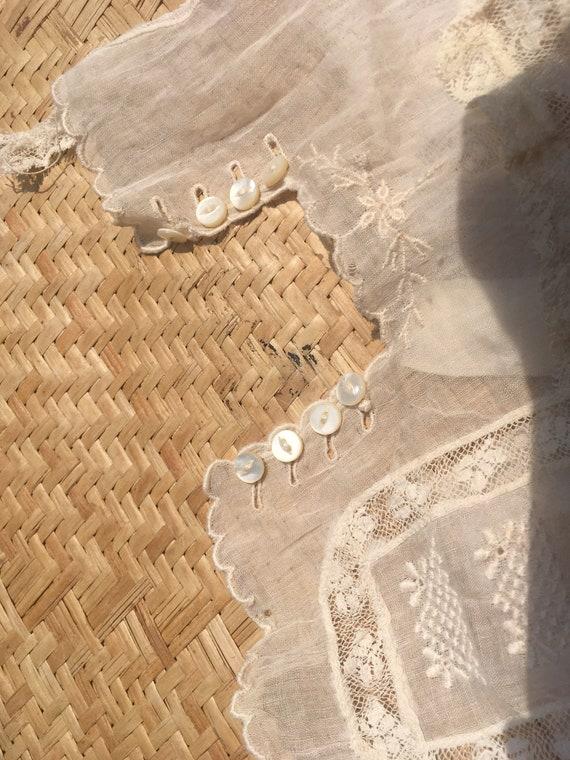 Edwardian lace blouse white 100 cotton gauze lawn… - image 8