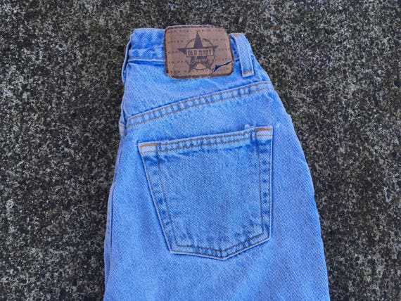 322af978 XS High waist jeans 90s 1990s light blue faded perfect fade all cotton 100%  non stretch cotton denim slim fit fitted skinny tapered leg blue