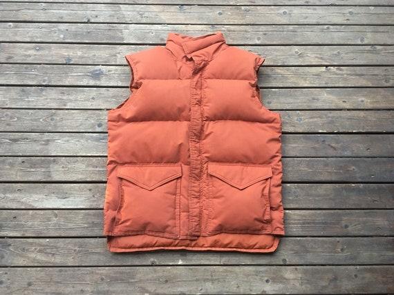 M/L Down vest 1970s Frostline kit 70s orange M L s