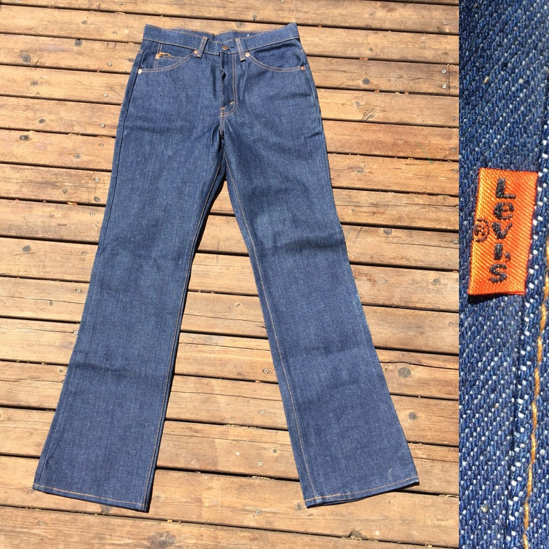 6a7673e07a7 30x31 deadstock Levis 517 jeans dark blue indigo rinse 29 30 | Etsy