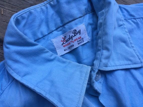 Perfect 1950s chambray shirt XS XXS 2XS extra sma… - image 4
