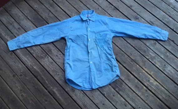 Perfect 1950s chambray shirt XS XXS 2XS extra sma… - image 6