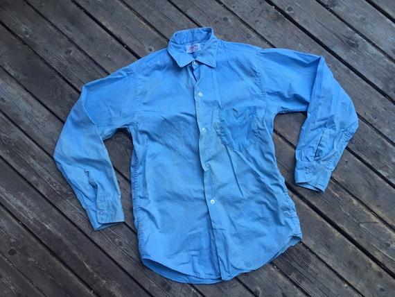 Perfect 1950s chambray shirt XS XXS 2XS extra sma… - image 3