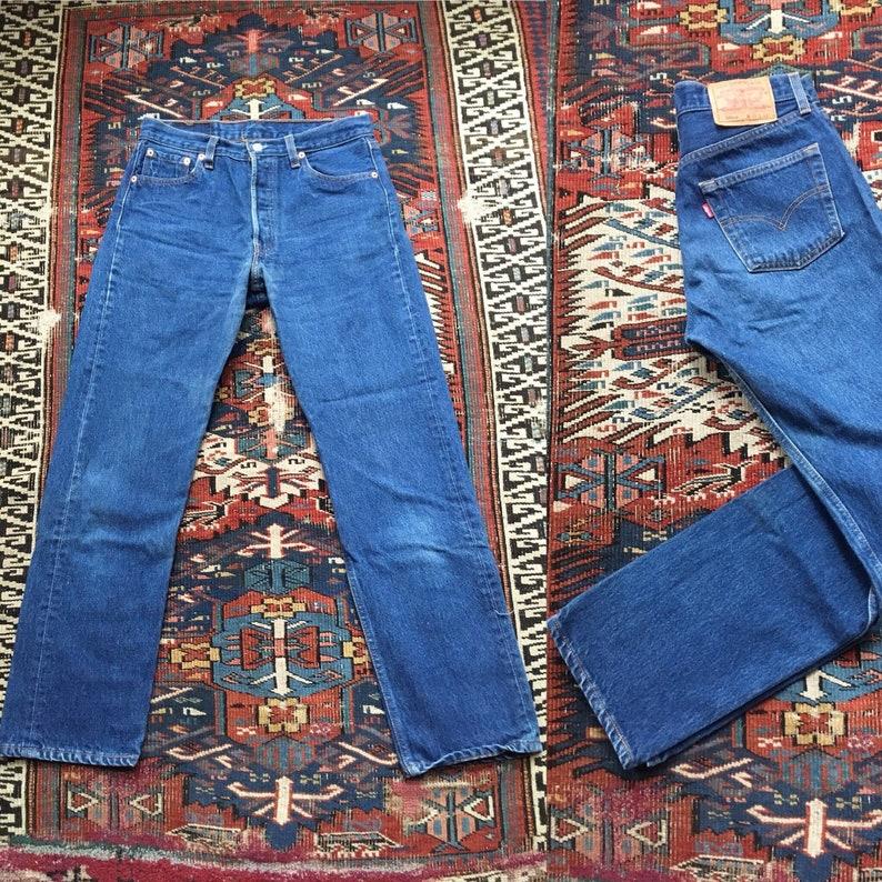 8e52add6e4d 31x30 Levis 501 jeans dark blue made in USA 501xx 501 XX 501s | Etsy