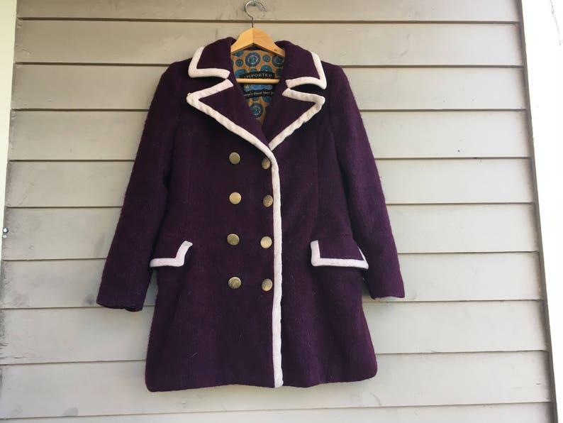 d8cb98af76 VENDITA HENDRIX 1960s mod peacoat lana cappotto giacca militare bollito  lana taglia XS S M Extra Small a medium doppio petto hippie boho hippy Woo