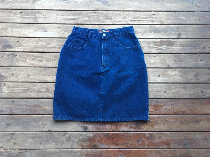 058e1f4d8c 30 Denim miniskirt Jeanjer by Jordache dark blue high waist | Etsy