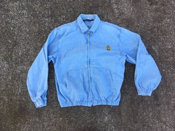 5cb03b9a96b M Ralph Lauren Polo chambray jacket chinstrap medium made in   Etsy