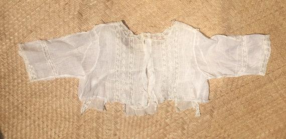 Edwardian lace blouse white 100 cotton gauze lawn… - image 7