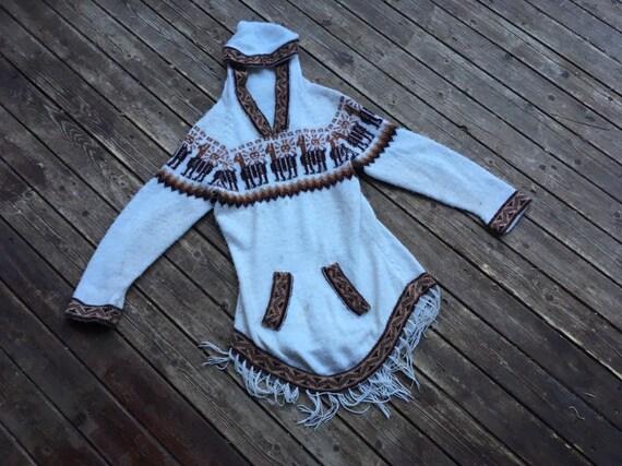 1970s Blue Alpaca Sweater
