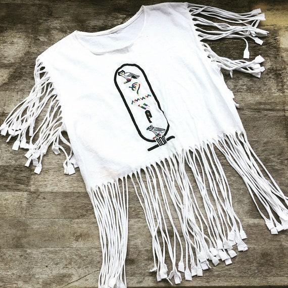 Egyptian Hieroglyphics Womens Long Sleeve Letter Print Casual Sweatshirt Crop Top Hoodies