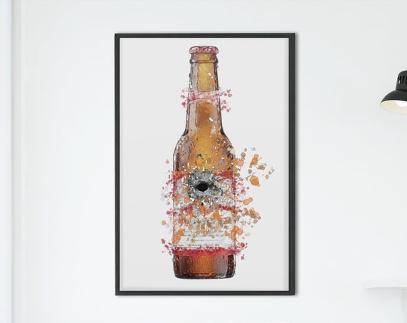 Beer Poster | Room Decor | Wall Art Print | Gift Idea | A4 & A3 | American| Print Only