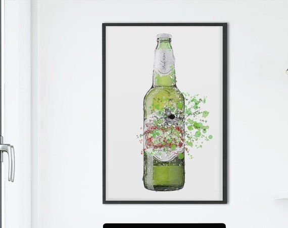 Beer Poster | Room Decor | Wall Art Print | Gift Idea | A4 & A3 | French| Print Only