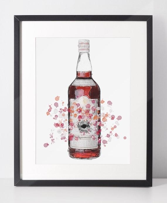 Liqueur Poster | Room Decor | Wall Art Print | Gift Idea | A4 & A3 | Fruit | Print Only