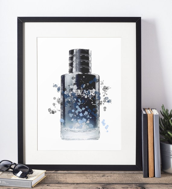 Aftershave Poster | Room Decor | Wall Art Print | Gift Idea | A4 & A3 | Navy| Print Only