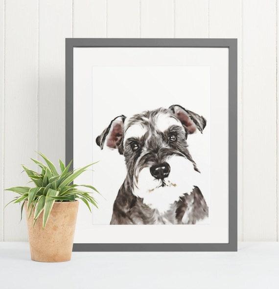 Schnauzer | Art Print Poster | Room Decor | Wall Art Print | Gift Idea | A4 & A3 | Dog | Print Only