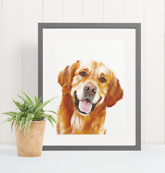 Golden Retriever | Art Print Poster | Room Decor | Wall Art Print | Gift Idea | A4 & A3 | Dog | Print Only