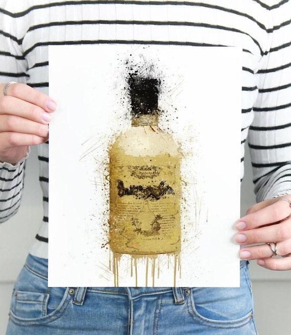 Gin Poster | Room Decor | Wall Art Print | Gift Idea | A4 & A3 | Tan | Print Only