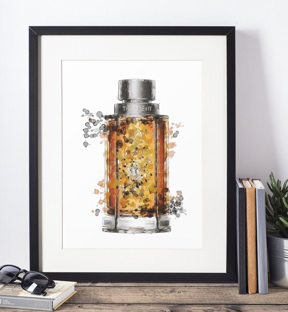 Aftershave Poster | Room Decor | Wall Art Print | Gift Idea | A4 & A3 | Orange| Print Only