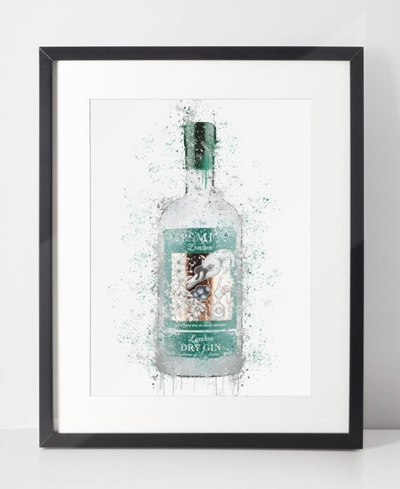 Gin Poster | Room Decor | Wall Art Print | Gift Idea | A4 & A3 | Mint | Print Only