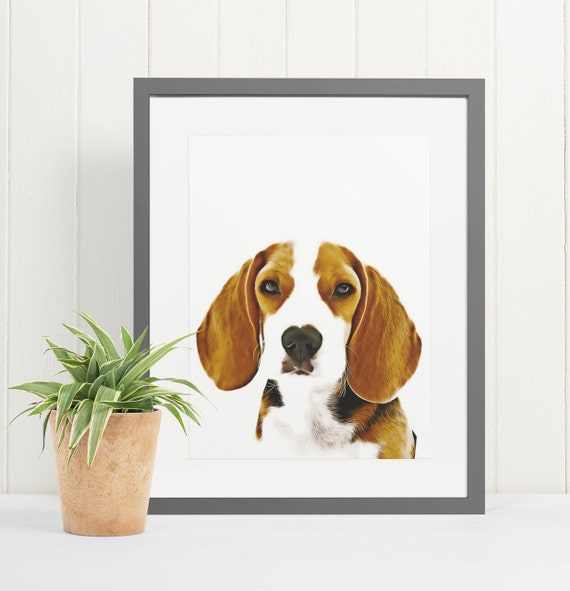 Beagle | Art Print Poster | Room Decor | Wall Art Print | Gift Idea | A4 & A3 | Dog | Print Only