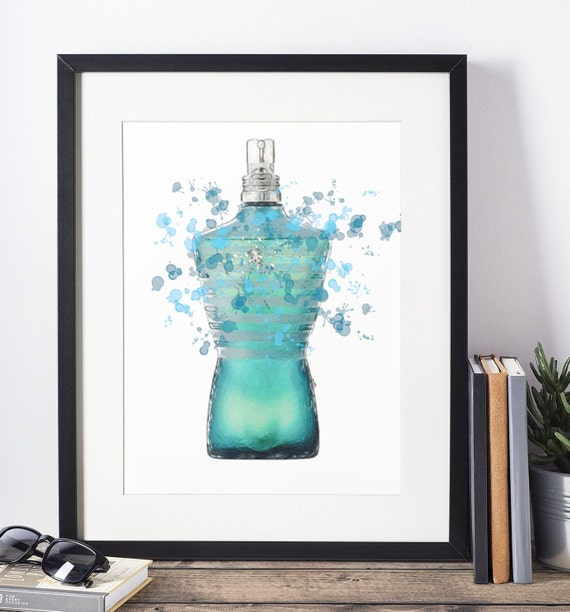 Aftershave Poster | Room Decor | Wall Art Print | Gift Idea | A4 & A3 | Turquoise| Print Only