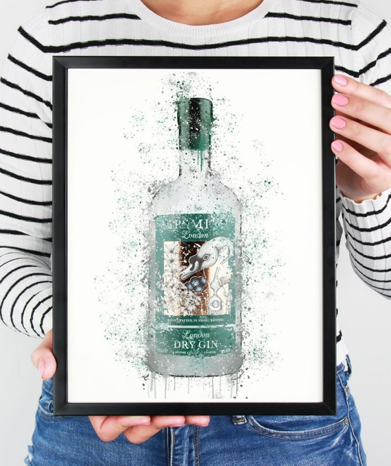 Gin Poster   Room Decor   Wall Art Print   Gift Idea   A4 & A3   Mint   Print Only