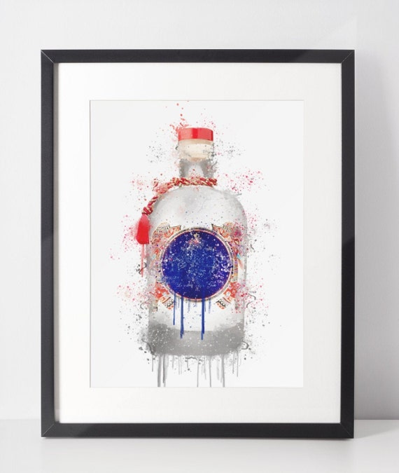Gin Poster | Room Decor | Wall Art Print | Gift Idea | A4 & A3 | Red | Print Only