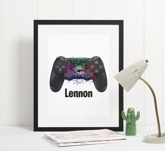 Gamer Poster | Personalised | Room Decor | Wall Art Print | Gift Idea | A4 & A3 | PS4 | PS5 | Controller | Print Only
