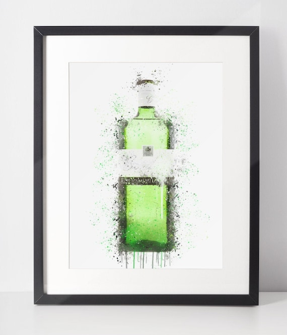 Gin Poster | Room Decor | Wall Art Print | Gift Idea | A4 & A3 | Emerald | Print Only