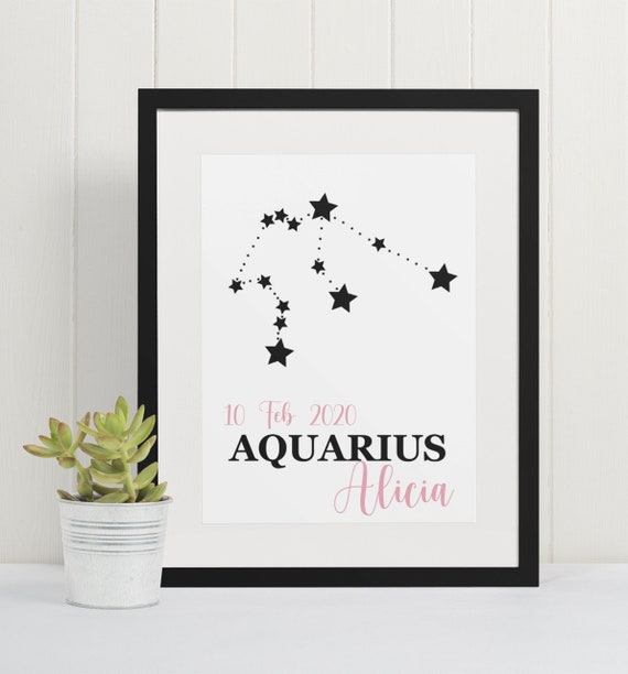 Personalised Star Sign | Zodiac Print | Birthday | Gift Idea | Horoscope | Astrology | Star Constellation | Wall Art | A4 & A3 | Print Only
