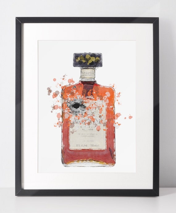 Liqueur Poster | Room Decor | Wall Art Print | Gift Idea | A4 & A3 | Almond | Print Only