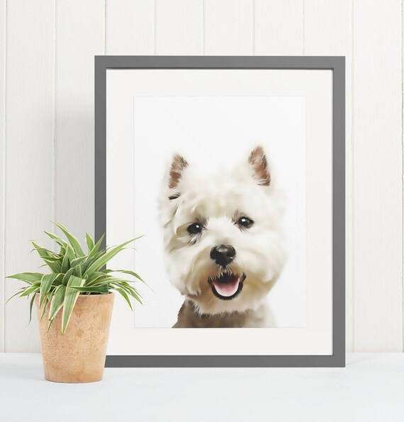 West Highland White Terrier | Art Print Poster | Room Decor | Wall Art Print | Gift Idea | A4 & A3 | Dog | Print Only