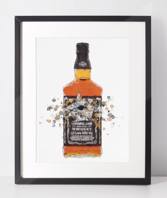 Whiskey Poster | Room Decor | Wall Art Print | Fathers Day Gift Idea | A4 & A3 | American | Print Only