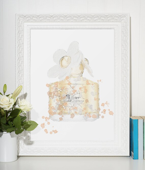 Perfume Poster | Room Decor | Wall Art Print | Gift Idea | A4 & A3 | Peach| Print Only