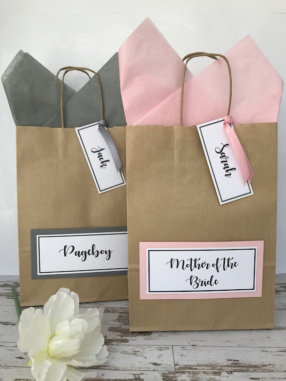 Wedding Gift Bag Personalised Wedding Favour Thank You Gift Bags