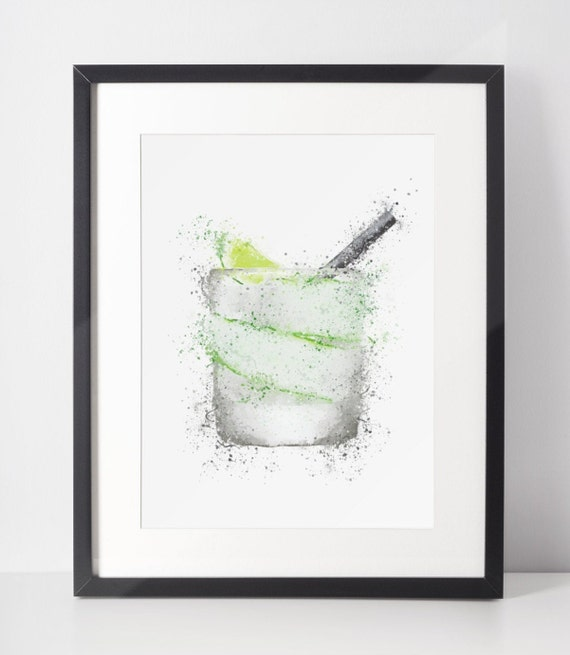 Gin Poster | Room Decor | Wall Art Print | Gift Idea | A4 & A3 | Gin Tumbler Glass | Print Only