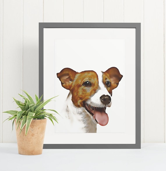 Jack Russell | Art Print Poster | Room Decor | Wall Art Print | Gift Idea | A4 & A3 | Dog | Print Only