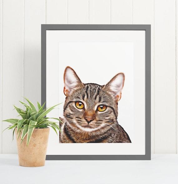 Tabby Cat | Art Print Poster | Room Decor | Wall Art Print | Gift Idea | A4 & A3 | Cats | Print Only