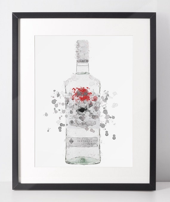 Rum Poster | Room Decor | Wall Art Print | Gift Idea | A4 & A3 | Grey | Print Only