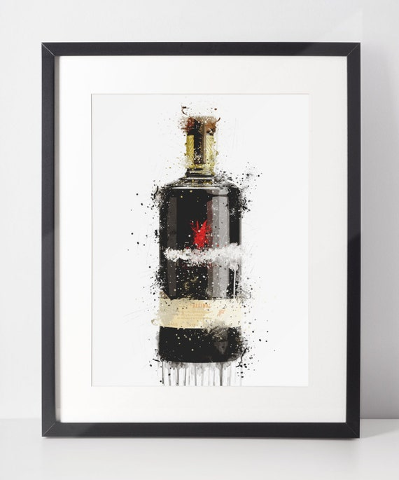 Gin Poster | Room Decor | Wall Art Print | Gift Idea | A4 & A3 | Fire Cracker | Print Only