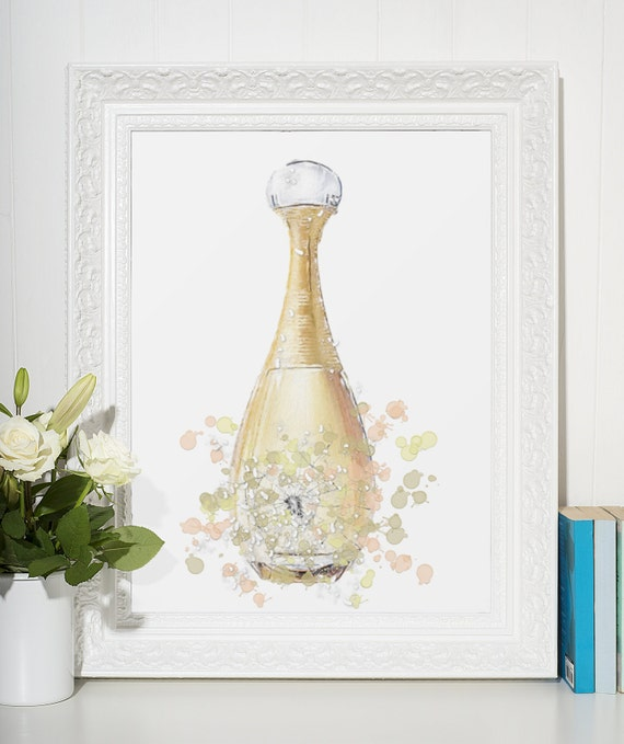 Perfume Poster | Room Decor | Wall Art Print | Gift Idea | A4 & A3 | Gold Blush| Print Only