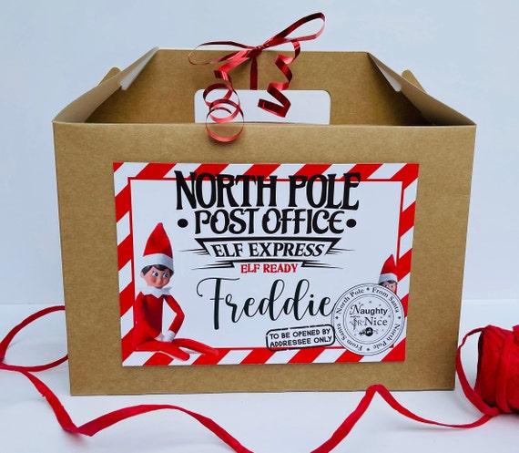Christmas Elf Ready Box | Elf On The Shelf | Elf Special Delivery Box | Personalised Box | Childrens Elf Box | Naughty Elf Box | Empty Box