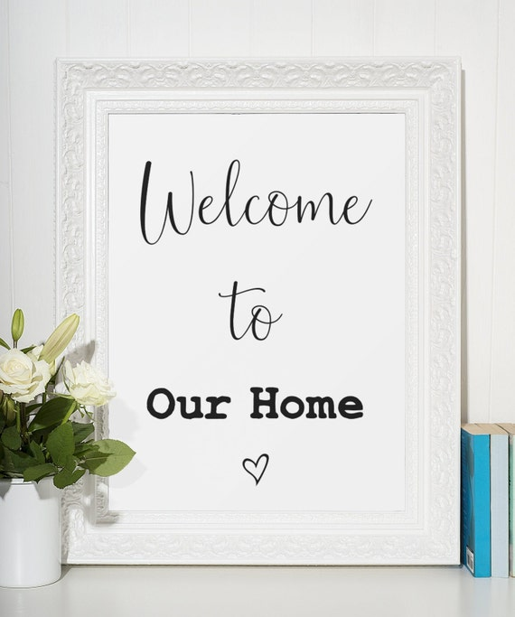 Word Poster | Room Decor | Wall Art Print | Gift Idea | A4 & A3 | Welcome To Our Home | Print Only