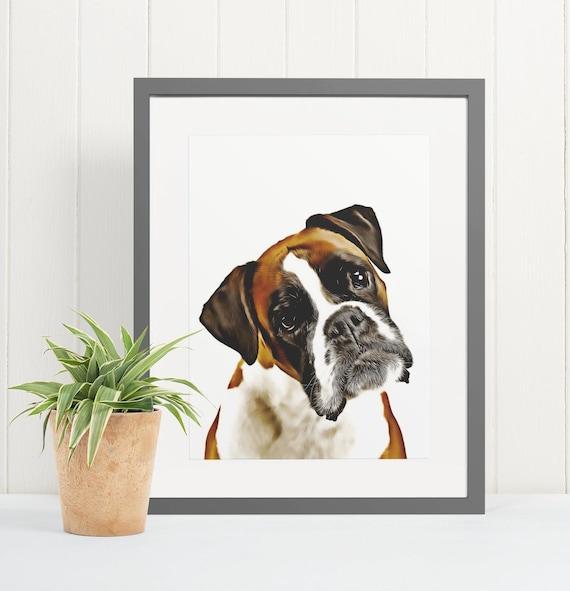 Boxer | Art Print Poster | Room Decor | Wall Art Print | Gift Idea | A4 & A3 | Dog | Print Only