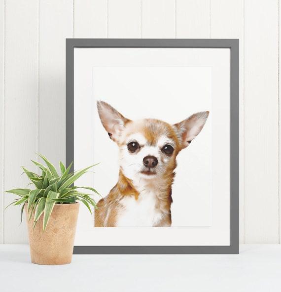 Chihuahua | Art Print Poster | Room Decor | Wall Art Print | Gift Idea | A4 & A3 | Dog | Print Only