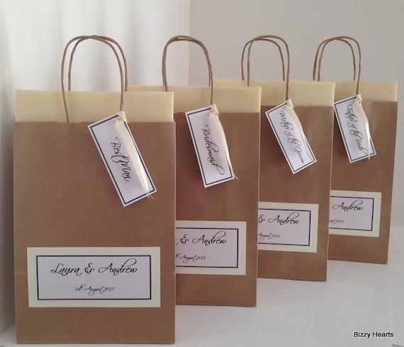 Wedding Gift Bag / Wedding Favour / Personalised IVORY Large