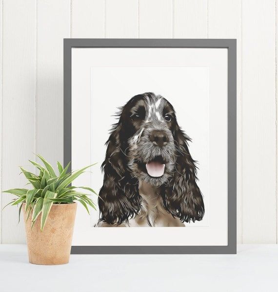 Cocker Spaniel | Art Print Poster | Room Decor | Wall Art Print | Gift Idea | A4 & A3 | Dog | Print Only