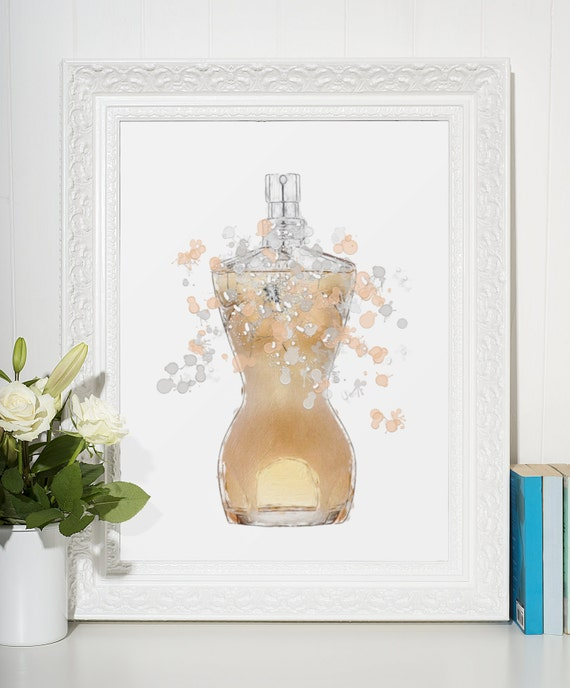 Perfume Poster | Room Decor | Wall Art Print | Gift Idea | A4 & A3 | Rose| Print Only